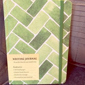 NEW green tiles hard bound 144-page journal.